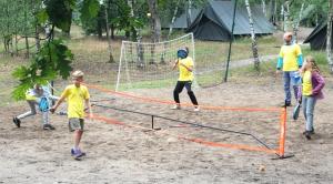 Team geel in actie