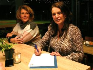 Barbara Boers en Gonnie van Elst